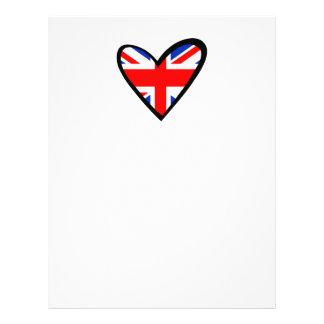 イギリスハートの旗 レターヘッド