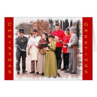 イギリスビクトリアンなクリスマスキャロルの歌手 カード