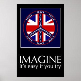 イギリスポスターを想像して下さい ポスター