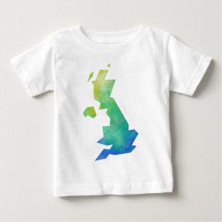 イギリス地図modern.png ベビーTシャツ