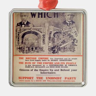 イギリス大将のための統一党ポスター メタルオーナメント