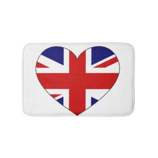 イギリス旗のハート バスマット