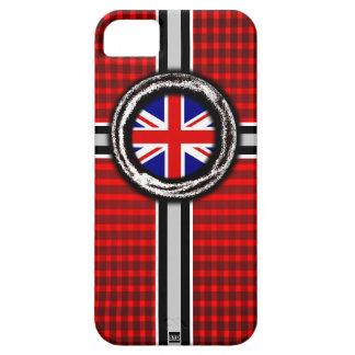 イギリス旗は赤いiPhone 5の箱を浮彫りにします iPhone SE/5/5s ケース