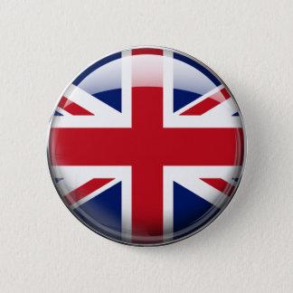 イギリス旗 5.7CM 丸型バッジ