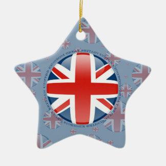 イギリス泡旗 セラミックオーナメント