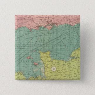 イギリス海峡 5.1CM 正方形バッジ