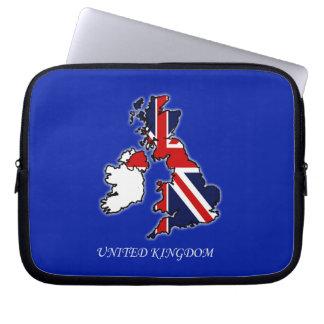 イギリス英国国旗の旗の地図のラップトップスリーブ ラップトップスリーブ
