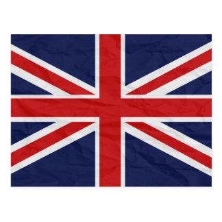 イギリス英国国旗の旗の郵便はがき ポストカード