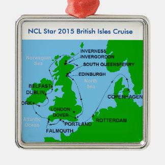 イギリス諸島の巡航のクリスマスオーナメント メタルオーナメント
