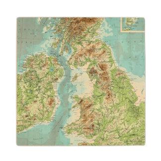 イギリス諸島のbathyorographical地図 ウッドコースター