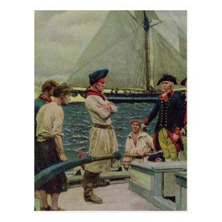 イギリス賞を取っているアメリカの私掠船 ポストカード