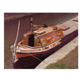 イギリス運河で使用されるNarroxboat 「Gifford」 ポストカード