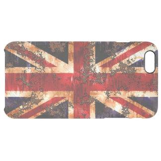 イギリス錆つかせた愛国心が強い旗 クリア iPhone 6 PLUSケース