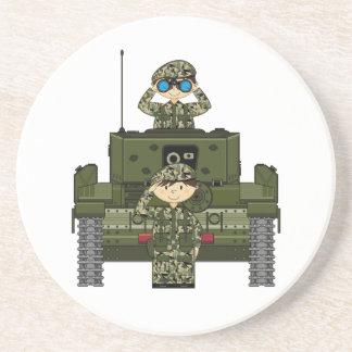 イギリス陸軍の兵士およびタンクコースター コースター