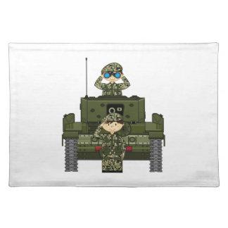 イギリス陸軍の兵士およびタンクランチョンマット ランチョンマット