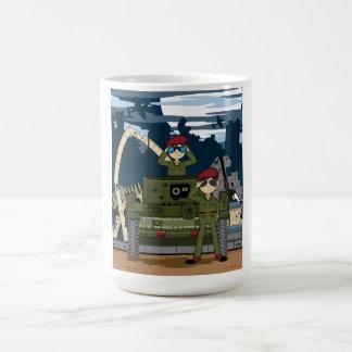 イギリス陸軍の兵士およびタンク場面コーヒー・マグ コーヒーマグカップ