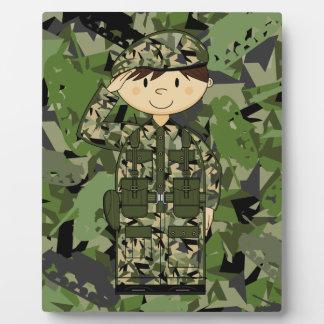 イギリス陸軍の兵士のプラク フォトプラーク