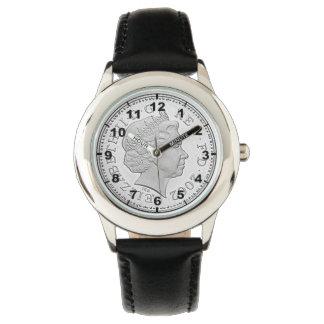 """""""イギリス10p硬貨""""のデザインの腕時計 腕時計"""