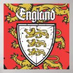 イギリス3のライオンの盾 ポスター