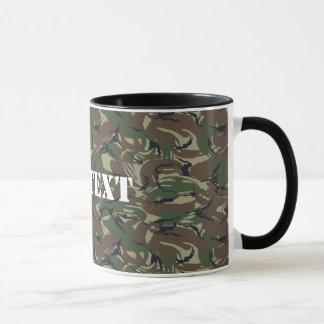 イギリス95の深緑色のカムフラージュ マグカップ