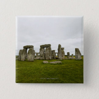 イギリス、ウィルトシャー、Stonehenge 5.1cm 正方形バッジ