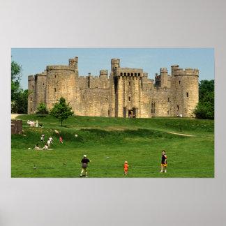 イギリス、サセックスのBodiamの城。 2 ポスター