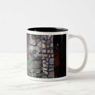 イギリス、スコットランドのSkyeの島、石 ツートーンマグカップ