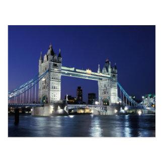 イギリス、ロンドンのタワー橋3 ポストカード
