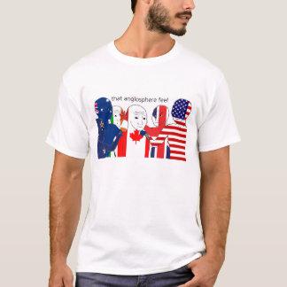 イギリス、米国、AUS、NZ、缶、怒りのために感じます Tシャツ