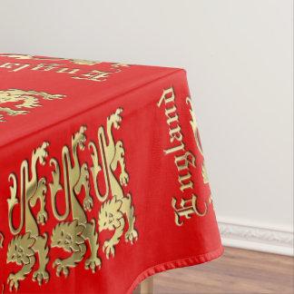 イギリス-紋章付き外衣 テーブルクロス