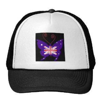 イギリス 花型女性歌手 蝶 トラッカー帽子