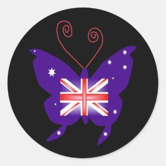イギリス|花型女性歌手|蝶 丸形シール・ステッカー