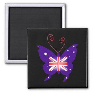 イギリス 花型女性歌手 蝶 冷蔵庫用マグネット