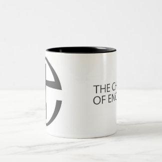 イギリス-茶/コーヒー・マグの教会 ツートーンマグカップ