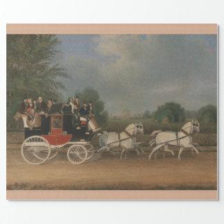 イギリス、1835.の旅行 ラッピングペーパー