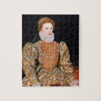 """イギリス(""""Darnleyポートレート"""")のエリザベス女王一世 ジグソーパズル"""