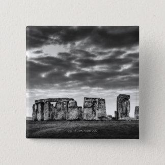 イギリス、Stonehenge 11 5.1cm 正方形バッジ