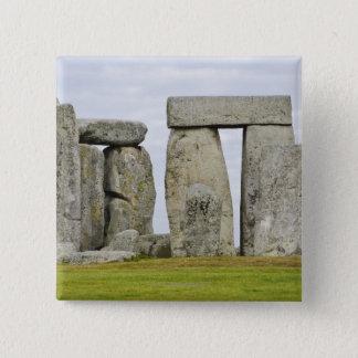 イギリス、Stonehenge 12 5.1cm 正方形バッジ