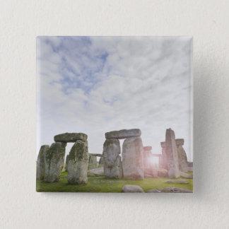 イギリス、Stonehenge 2 5.1cm 正方形バッジ