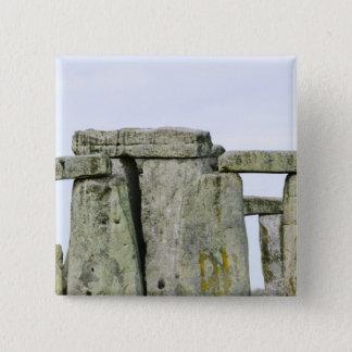 イギリス、Stonehenge 4 5.1cm 正方形バッジ