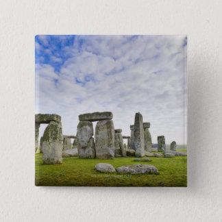 イギリス、Stonehenge 5.1cm 正方形バッジ