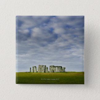 イギリス、Stonehenge 8 5.1cm 正方形バッジ