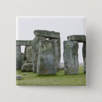 イギリス、Stonehenge 9 5.1cm 正方形バッジ