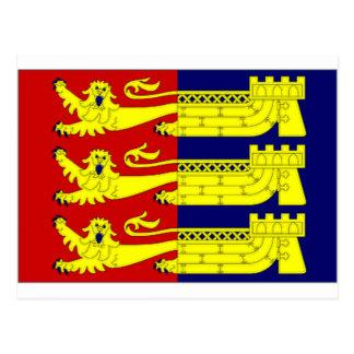 イギリスCinque港の旗 ポストカード