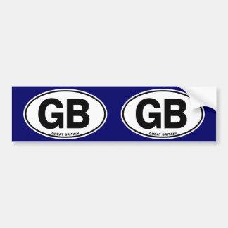 イギリスGB楕円形インターナショナルの識別コードの手紙 バンパーステッカー