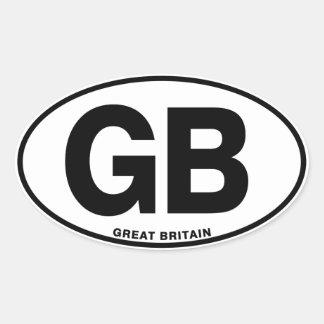 イギリスGB楕円形インターナショナルの識別コードの手紙 楕円形シール