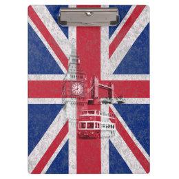 イギリスID154の旗そして記号 クリップボード