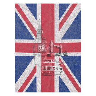 イギリスID154の旗そして記号 テーブルクロス