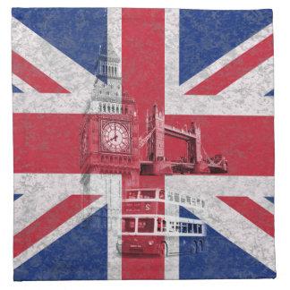 イギリスID154の旗そして記号 ナプキンクロス