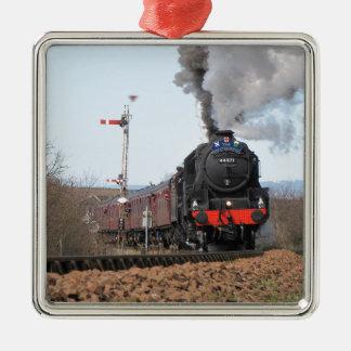 イギリスIII蒸気の列車 メタルオーナメント